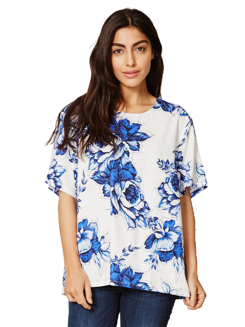Mokomo Tencel Top - Delft Blooms
