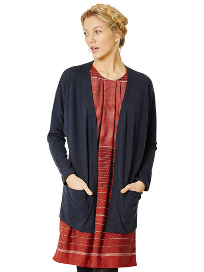 Broderick Organic Cotton Cardigan - Navy Blue