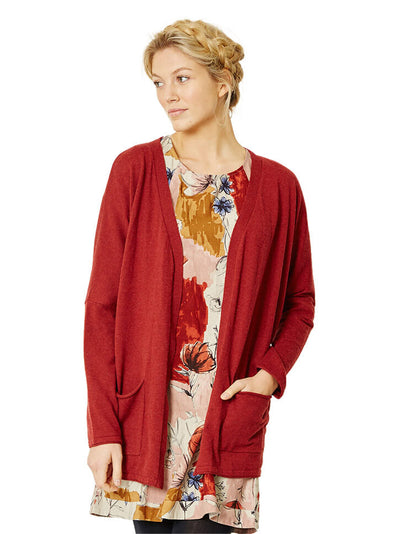 Broderick Organic Cotton Cardigan - Rust