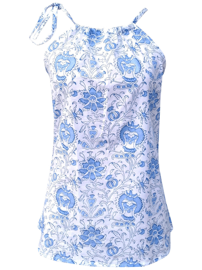 Blue Blossoms Top