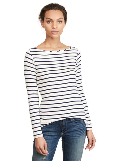 Francoise Long Sleeve T-shirt - Marine Stripe