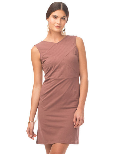 Kristy Organic Cotton Dress - Dusty Rose