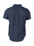 Bromley Dot Organic Cotton Button Down Shirt - Navy Blue