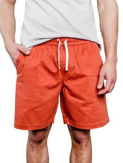 Spence Organic Cotton Shorts - Rust