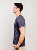 Triblend V-Neck Tee - Navy Blue