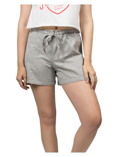 Evan Organic Cotton Shorts - Grey Gingham