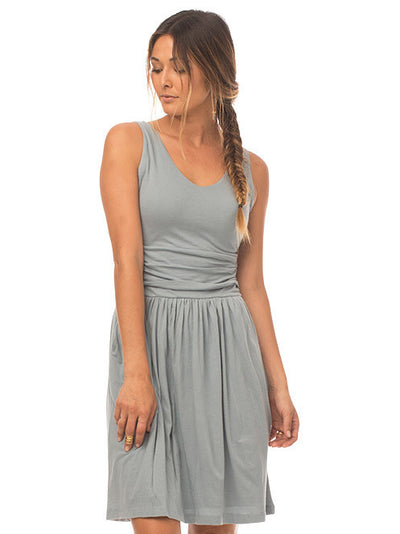 Moxie Organic Cotton Dress - Washed Denim