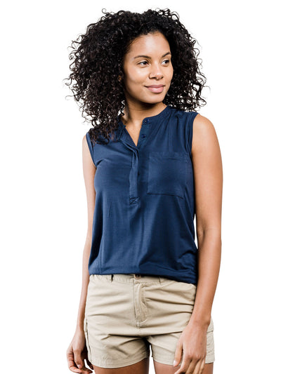 Avalon Tencel Tank - Navy Blue