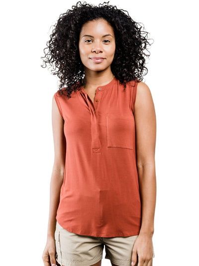 Avalon Tencel Tank - Rust