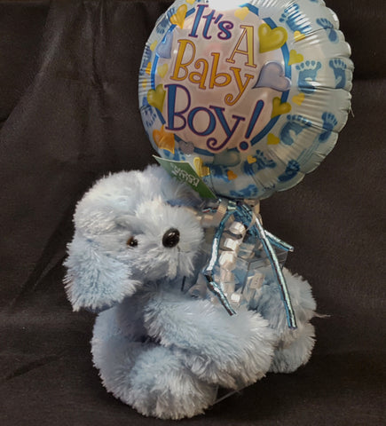 """It's A Boy"" Balloon with Animal"