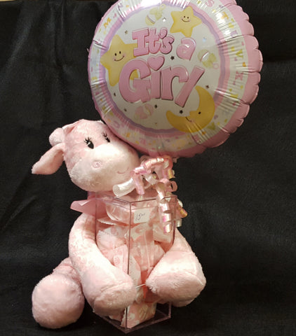 """It's A Girl"" Balloon with Animal"