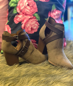 Buckle Strap Bootie