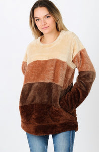 Fur Fleece Sweatshirt