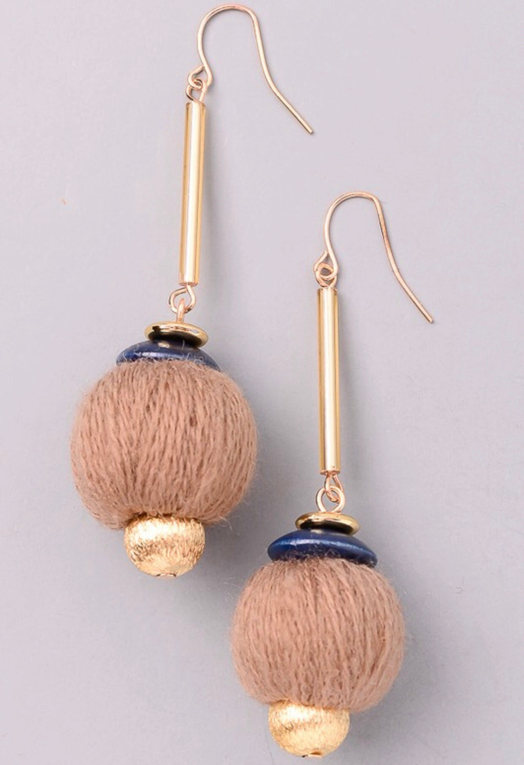 Yarn Ball Earrings