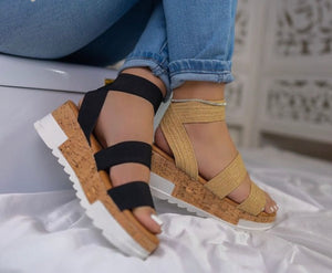 Cork sole platforms