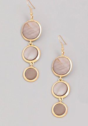 Triple Pendant Earrings