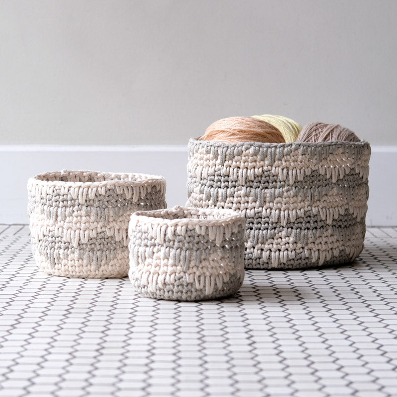 Willoughby Nesting Bins (FREE PATTERN)