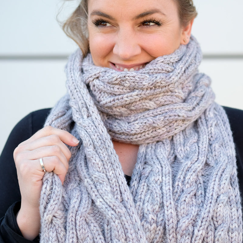 Kelly's Jumbo Cable Scarf
