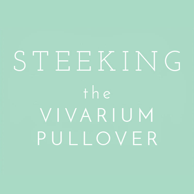 Steeking the Vivarium Pullover