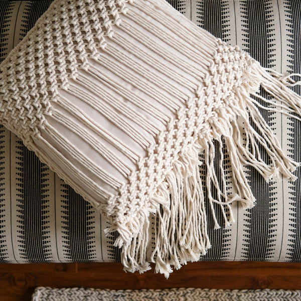 Lauren's Modern Macrame Pillow Cover