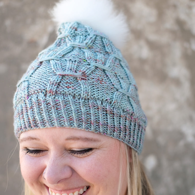 Heather's Minty Wintery Hat