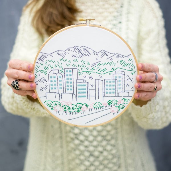 Kelly's Denver Skyline Embroidery Kit