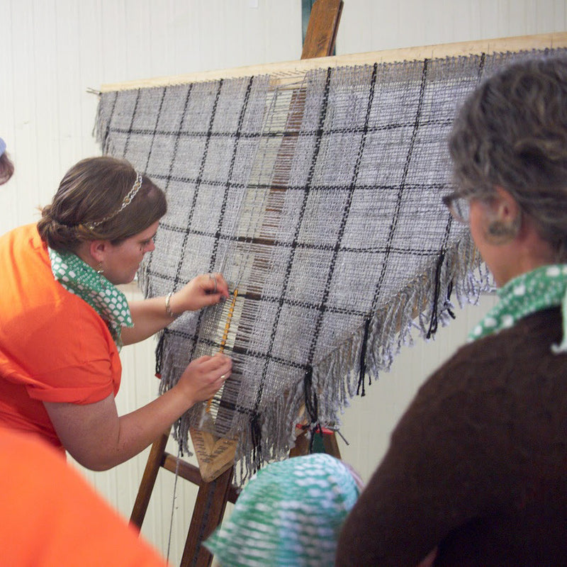 Sheep to Shawl competition at Estes Park Wool Market!