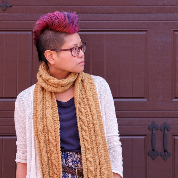 Elyse's Alice Cable Scarf