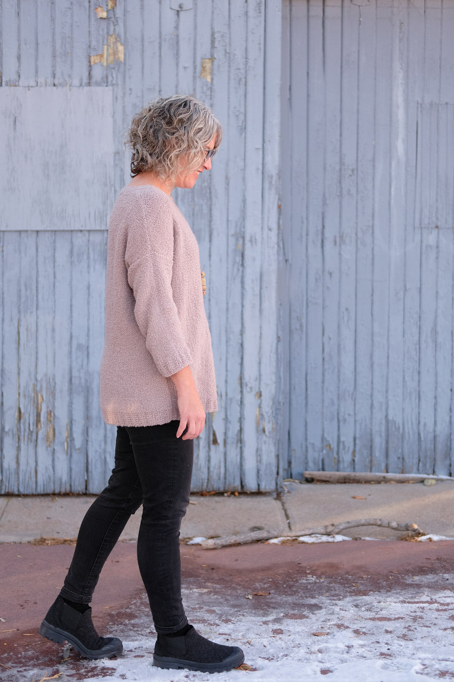 Side view of Addison Sweater by Julie Hoover