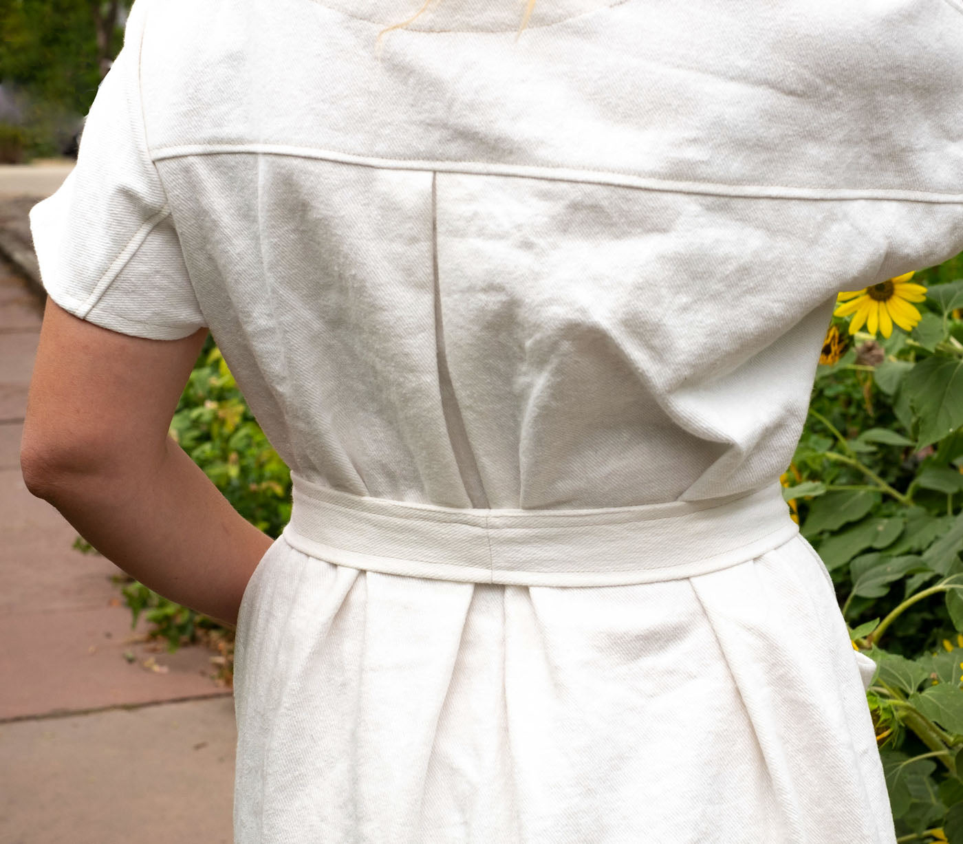 Back pleat on ambers wiksten shift dress
