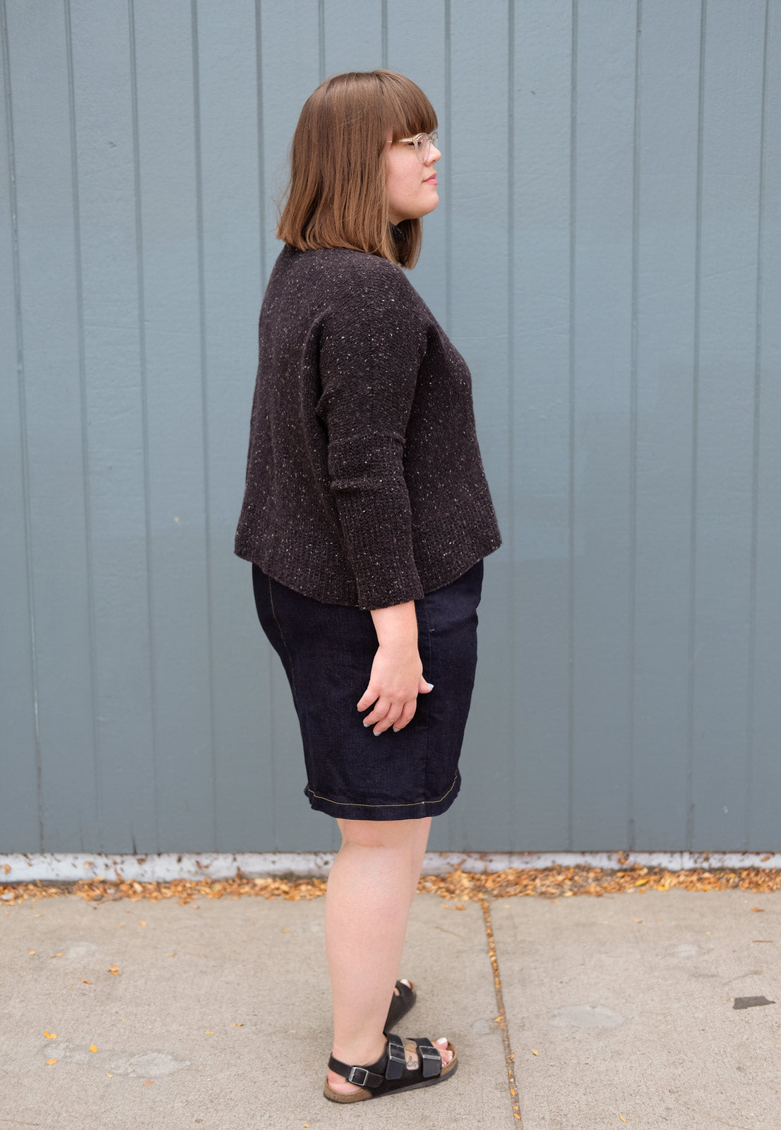 BIBBE Dolman pullover from the back