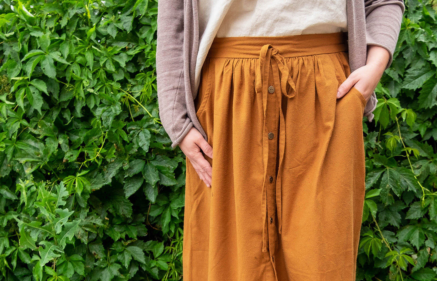 silk noil cleo skirt hack