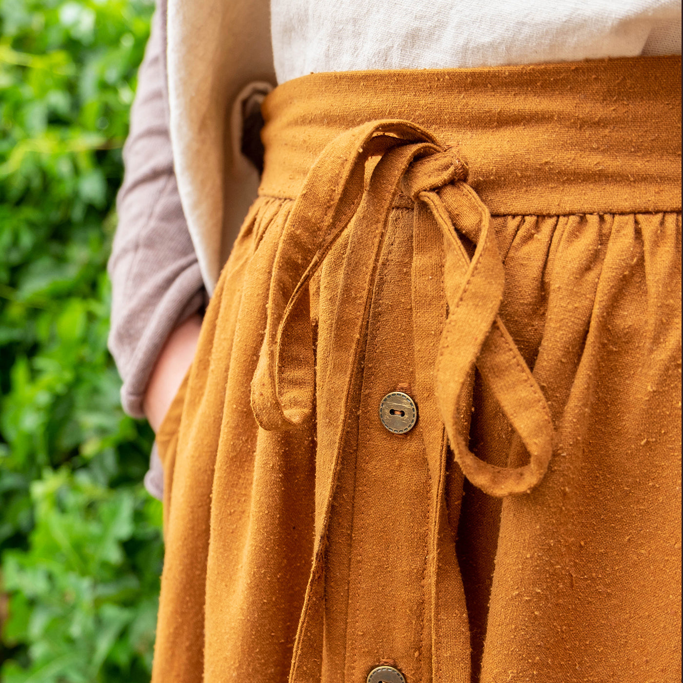 cleo skirt button placket hack