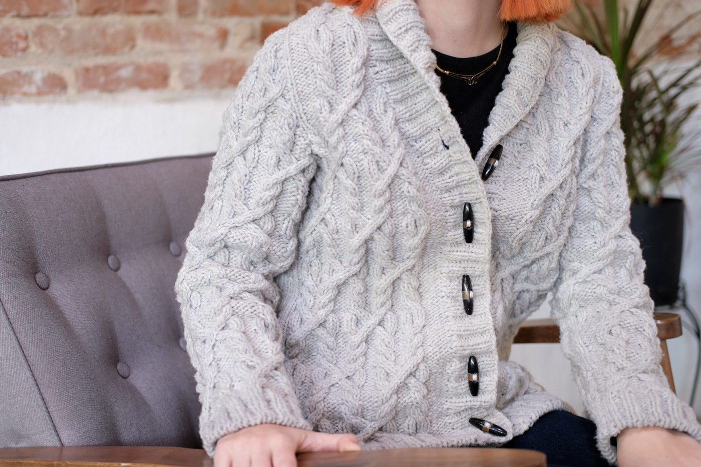 Lauren's Cabled Cardigan