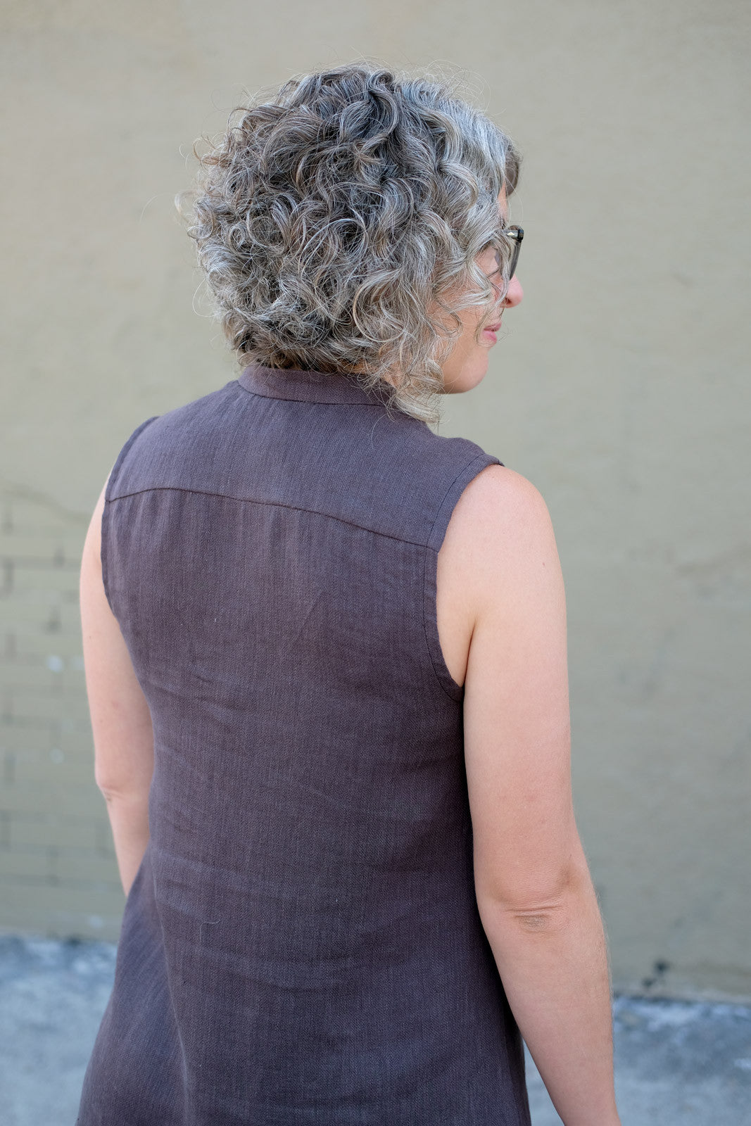 Back view of Grainline Studio's Alder Shirtdress