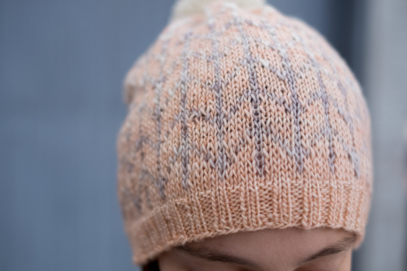 Madelinetosh Light and Barley Hat Detail