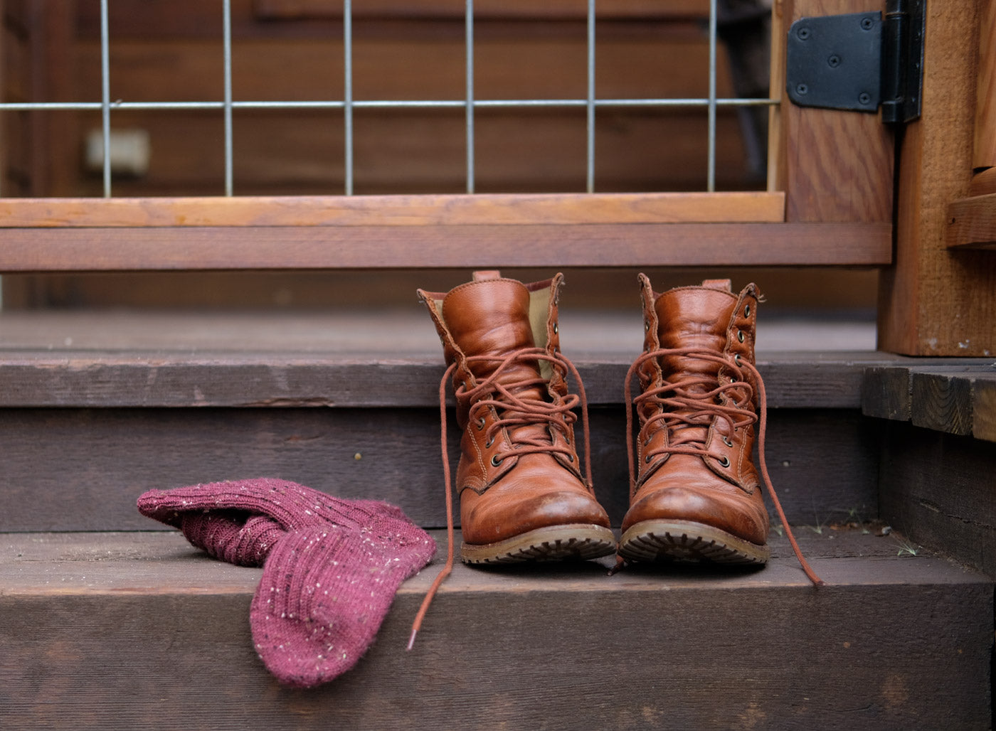 Basecamp Socks by Kaylee Lockhart in Hue Loco Tweed Sock