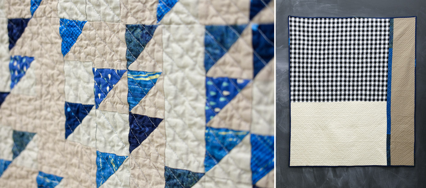 Details of Bob's Half Square Triangle Quilt