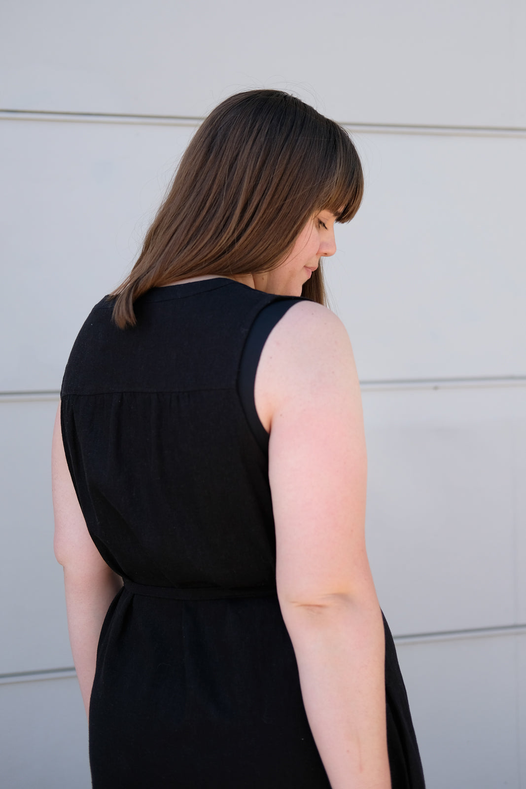 Detail of the back yoke gathers on the Brome Dress