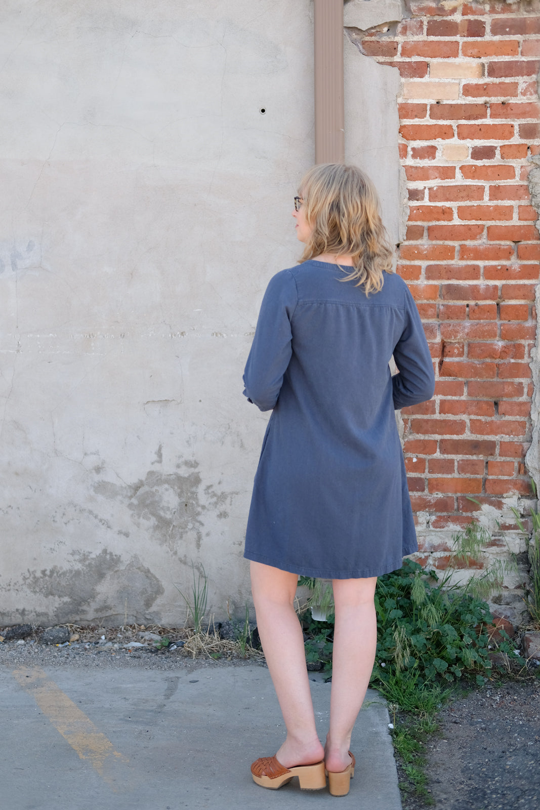 Back View of the Brome View B Dress