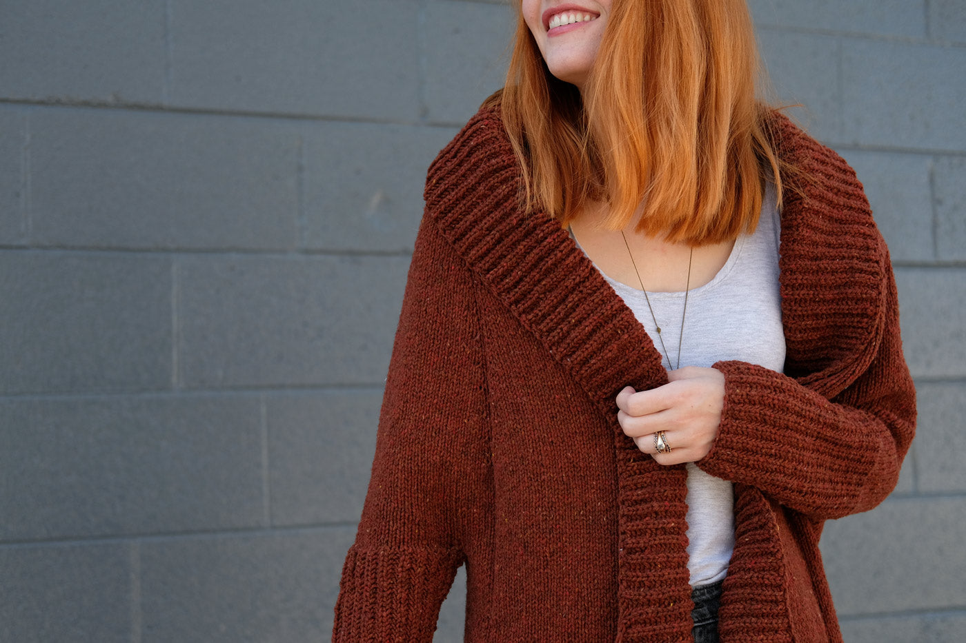 Lower arm hole on Andrea Mowry's Ronan Cardigan