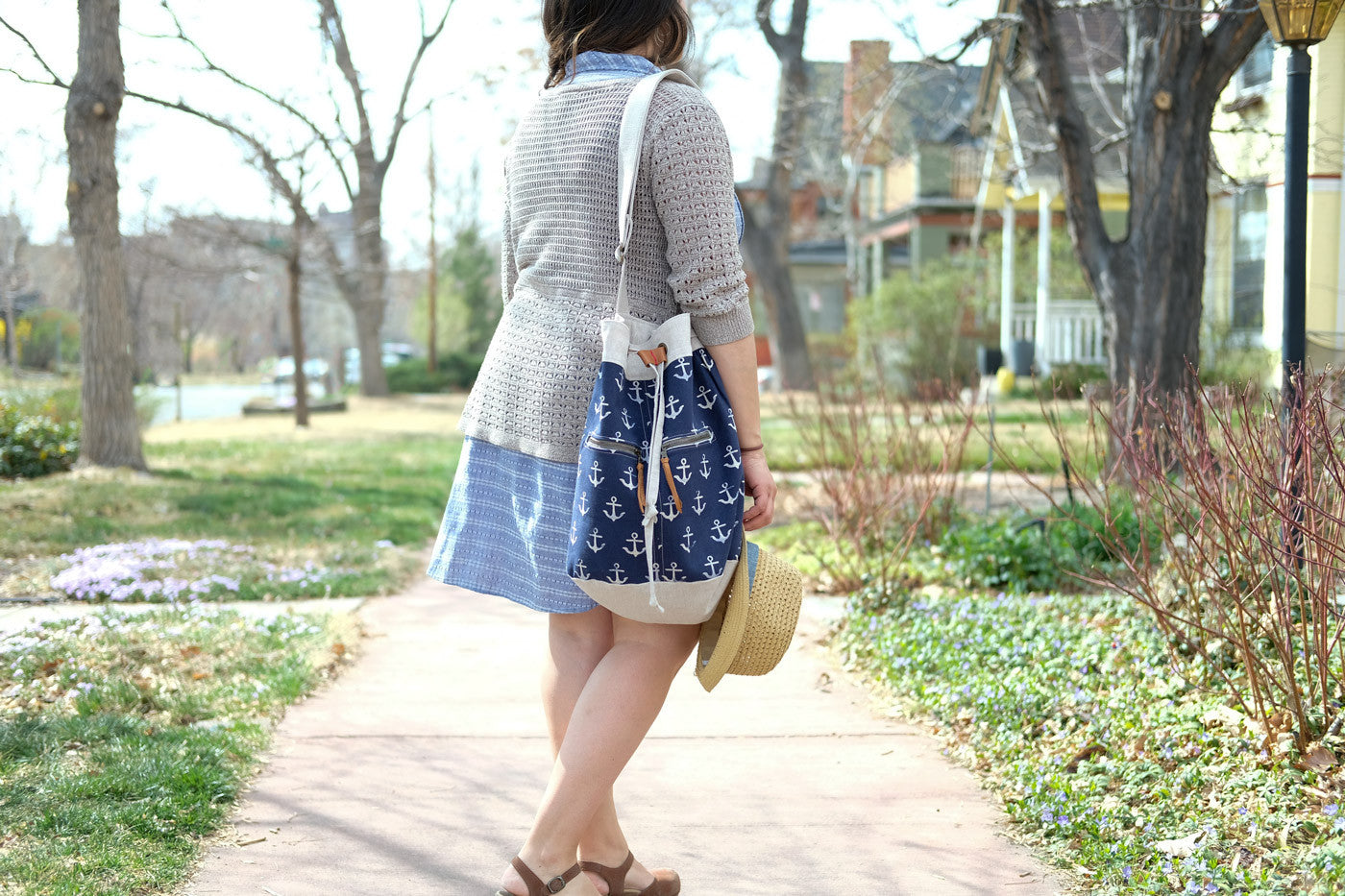 Cotton + Steel Anchor Bucket Bag