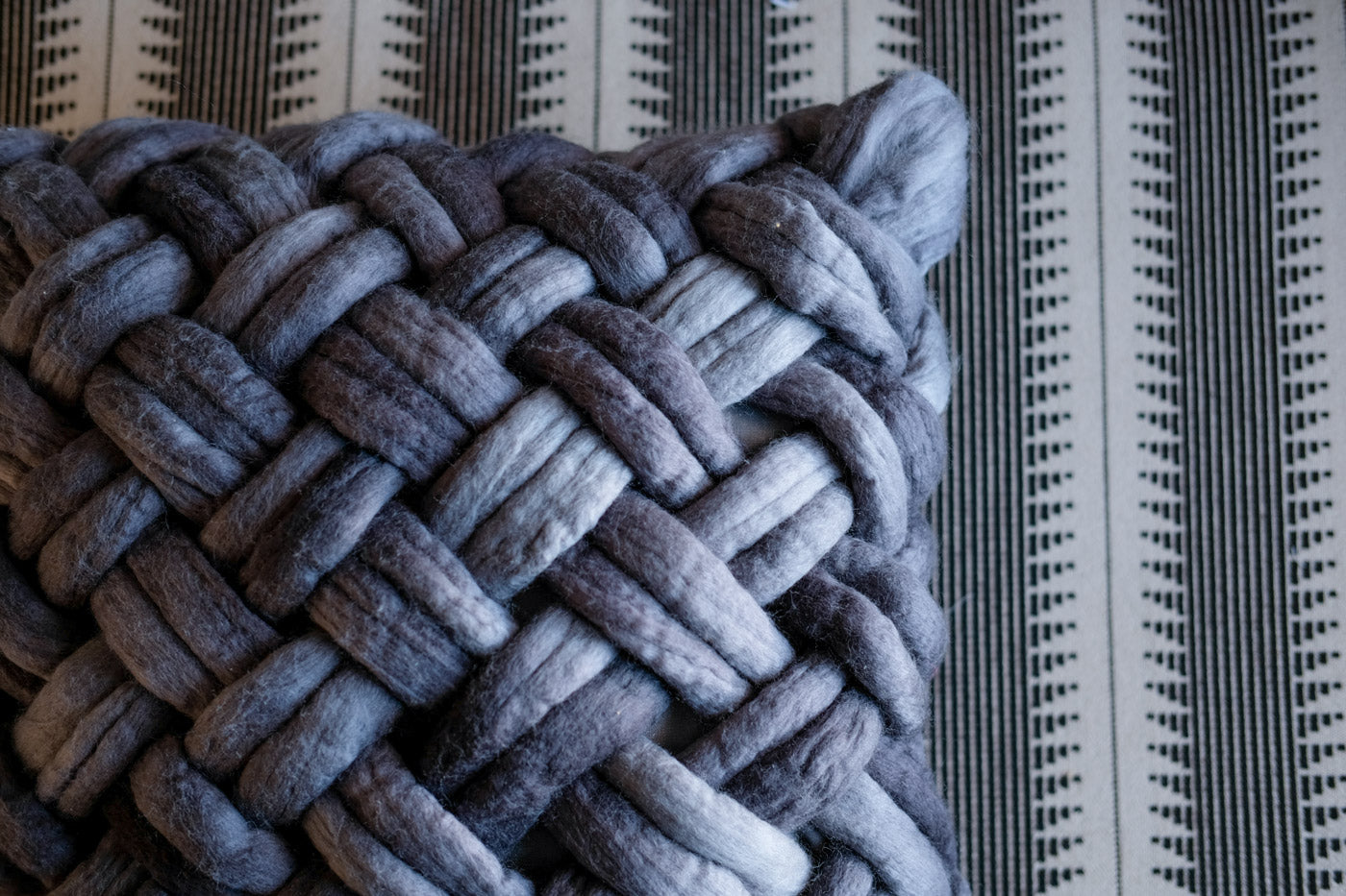 Closeup of basketweaving technique from Weaving Within Reach