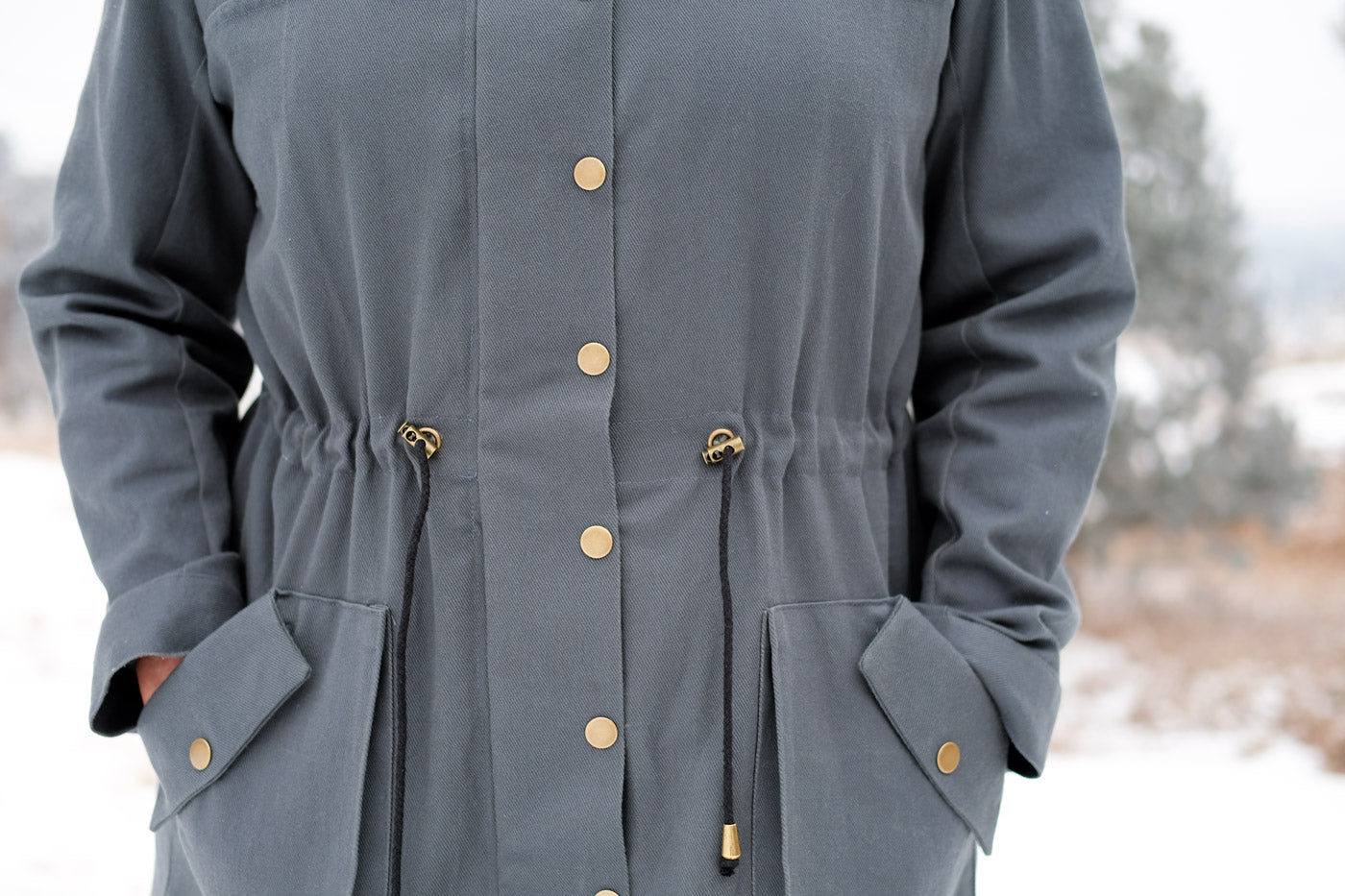 Detail of the Kelly Anorak Hardware