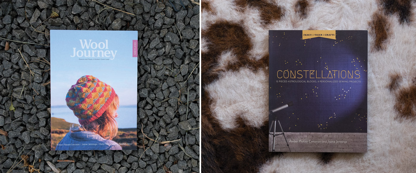 Constellations book and Wool Journey Book