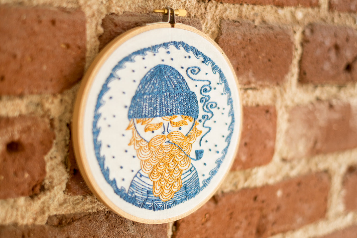 Sea Captain CozyBlue Embroidery Kit