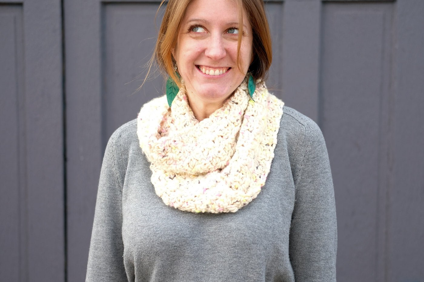 Chunky, Squishy Crochet Infinity Scarf in Tosh ASAP
