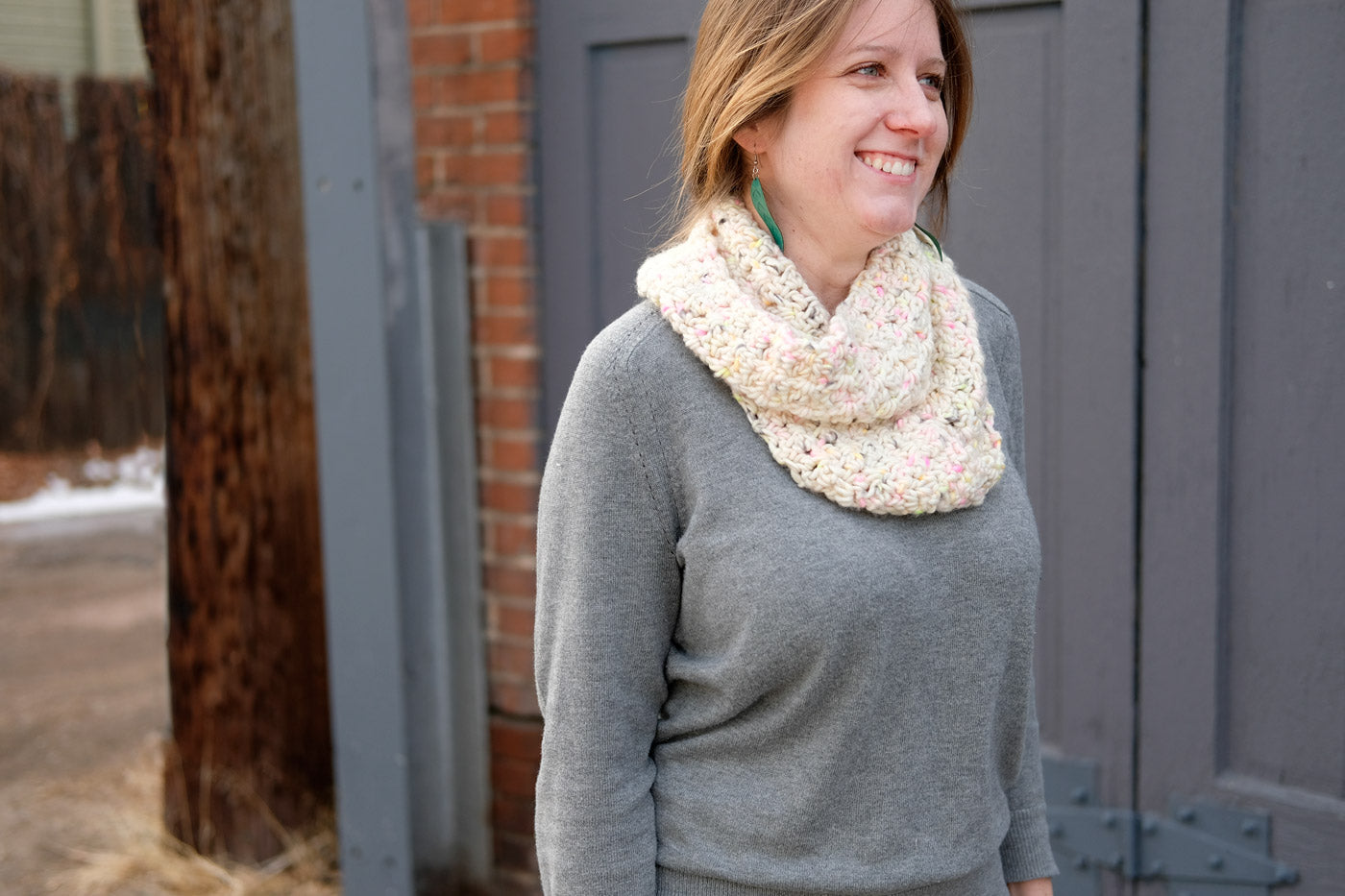 Kelly's Chunky, Squishy, Crochet, Infinity Scarf in Madelinetosh ASAP