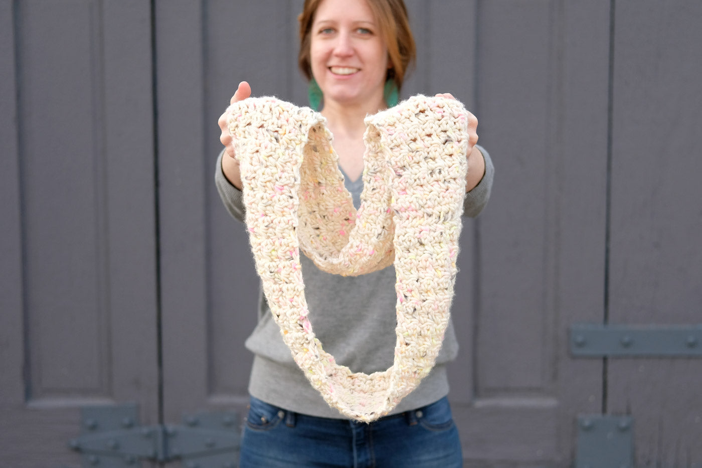 Mama in a Stitch Chunky Crochet Infinity Scarf