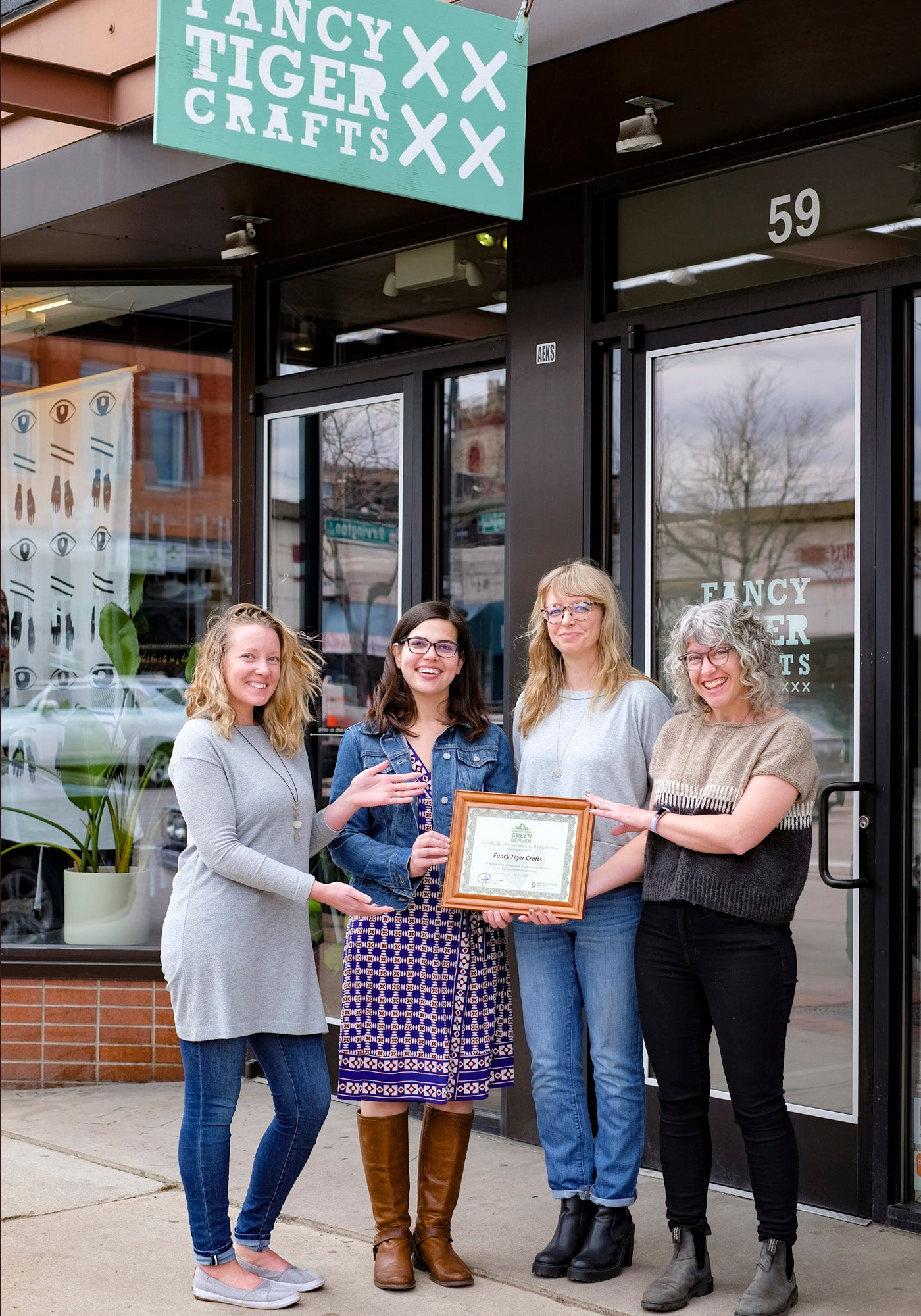 Fancy Tiger Crafts Green Team with the Certifiably Denver Certificate